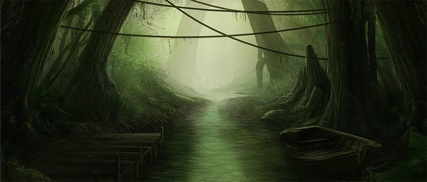 Swamp Game Concept Art