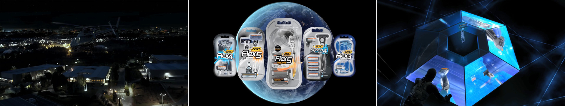 Bic Flex 5 Hybrid Spy VFX TV Commercial