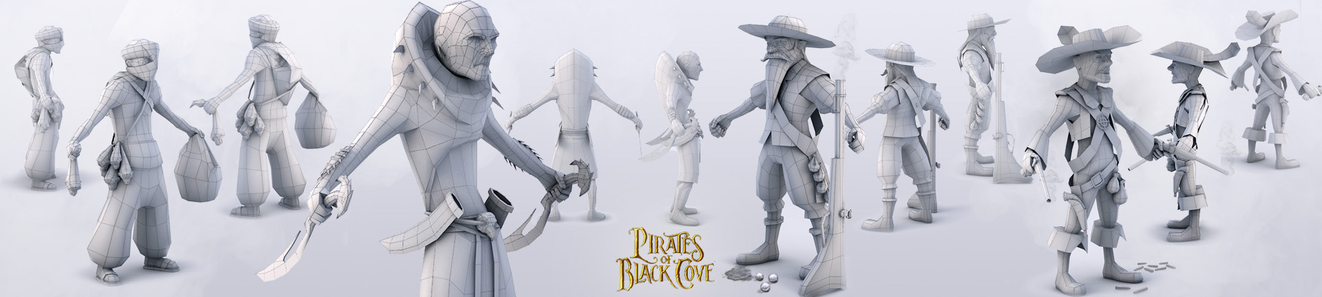 Pirates Of Black Cove 3D Modeling