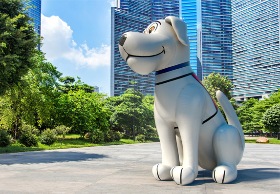 3D Inflatable Dog