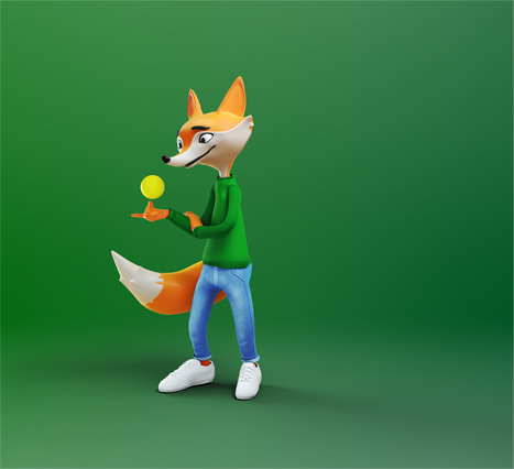 3D Fox Animation