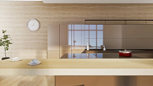 3D kitchen architectural animation
