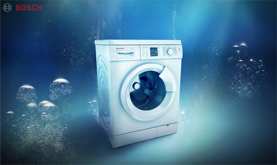 Bosch 3D Washing Machine Poster