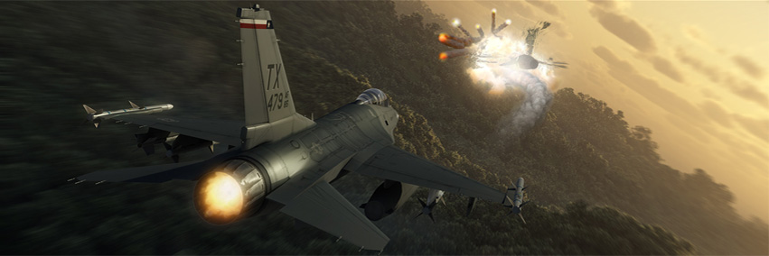 Aircraft 3D scene rendering